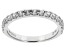 White Zircon 10k White Gold Band Ring .81ctw