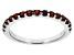 Red Garnet 10k White Gold Band Ring .64ctw