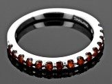Red Garnet 10k White Gold Band Ring .64ctw