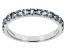 Blue Aquamarine 10k White Gold Band Ring .42ctw
