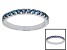 Blue Lab Alexandrite 10k White Gold Band Ring .54ctw