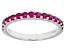Red Mahaleo® Ruby 10k White Gold Band Ring .62ctw