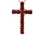 Mahaleo® Ruby 14k Yellow Gold Cross Pendant With Chain .61ctw