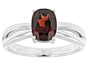 Red Garnet 14k White Gold Ring 1.66ct