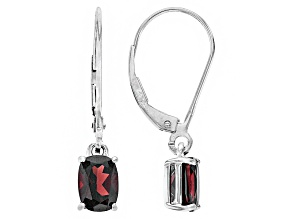 Red Garnet 14k White Gold Earrings 1.87ctw