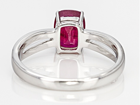 Red Mahaleo® Ruby 14k White Gold Ring 1.59ct