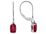 Mahaleo® Ruby 14k White Gold Earrings 1.68ctw