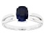 Blue Sapphire 14k White Gold Ring 1.57ct