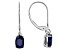 Blue Sapphire 14k White Gold Earrings 2.47ctw
