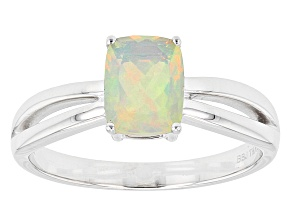 Ethiopian Opal 14k White Gold Ring 0.61ctw