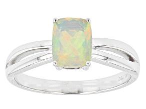 Ethiopian Opal 14k White Gold Ring 0.61ctw