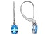 Swiss Blue Topaz 14k White Gold Earrings 1.62ctw