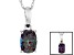 Color Change Lab Alexandrite 14k White Gold Pendant With Chain .85ct