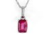 Mahaleo ® Ruby 14k White Gold Pendant With Chain .84ct