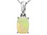 Ethiopian Opal 14k White Gold Pendant With Chain .41ct
