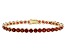 Red Garnet 14k Yellow Gold Tennis Bracelet 17.67ctw