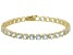 Blue Aquamarine 14k Yellow Gold Tennis Bracelet 12.62ctw