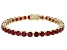 Red Mahaleo® Ruby 14k Yellow Gold Tennis Bracelet 21.03ctw