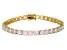 Ethiopian Opal 14k Yellow Gold Tennis Bracelet 7.29ctw