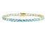 Swiss Blue Topaz 14k Yellow Gold Tennis Bracelet 17.95ctw