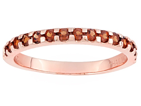Red Garnet 10k Rose Gold Ring .60ctw