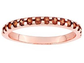 Red Garnet 10k Rose Gold Ring .60ctw