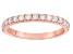 White Zircon 10k Rose Gold Ring .75ctw