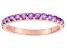 Purple Amethyst 10k Rose Gold Ring .51ctw