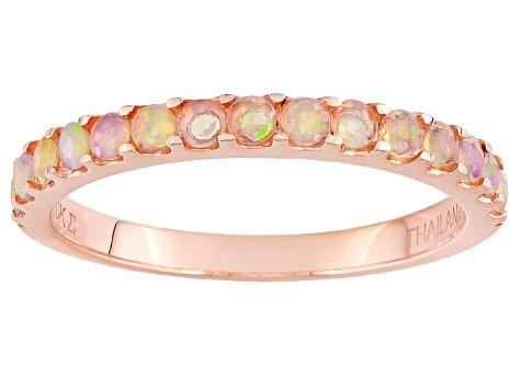 d3aa755bf227b Ethiopian Opal 10k Rose Gold Ring .23ctw