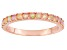 Ethiopian Opal 10k Rose Gold Ring .23ctw