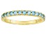 Swiss Blue Topaz 10k Yellow Gold Ring .51ctw
