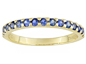 Blue Sapphire 10k Yellow Gold Ring .57ctw