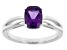 Purple Amethyst 14k White Gold Ring 1.24ct