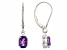 Purple Amethyst 14k White Gold Dangle Earrings 1.36ctw