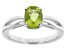 Green Peridot 14k White Gold Ring 1.16ct