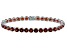 Red Garnet 14k White Gold Bracelet 17.67ctw