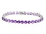 Purple Amethyst 14k White Gold Bracelet 12.06ctw