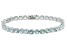 Blue Aquamarine 14k White Gold Tennis Bracelet 12.62ctw