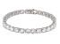 White Zircon 14k White Gold Tennis Bracelet 16.93ctw