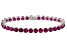 Red Mahaleo® Ruby 14k White Gold Tennis Bracelet 21.03ctw