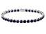 Blue Sapphire 14k White Gold Tennis Bracelet 19.63ctw