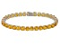 Yellow Citrine 14k White Gold Tennis Bracelet 13.18ctw