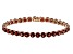 Red Garnet 14k Rose Gold Tennis Bracelet 17.67ctw