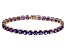 Purple Amethyst 14k Rose Gold Tennis Bracelet 12.06ctw