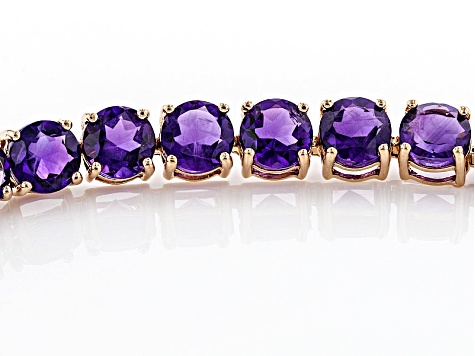 9f940f81fff84 Purple Amethyst 14k Rose Gold Tennis Bracelet 12.06ctw