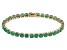 Green Emerald 14k Rose Gold Tennis Bracelet 14.02ctw