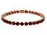 Mahaleo Ruby 14k Rose Gold Bracelet 21.03ctw