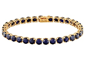 Blue Sapphire 14k Rose Gold Bracelet 19.63ctw