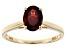 Red Garnet 14k Yellow Gold Ring 1.59ct