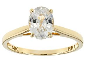 White Zircon 14k Yellow Gold Ring 1.59ct
